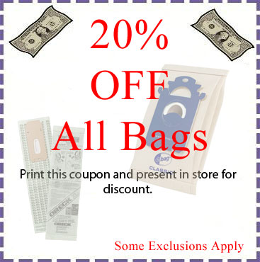 20% off vacuum bags at Metrowest Vacuums